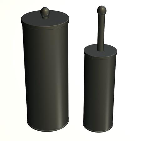 hygene: 3d render of toilet brush Stock Photo