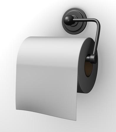 hygene: 3d render of toilet paper holder
