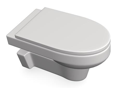 basin: 3d render of modern toilet