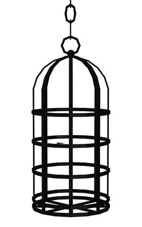 torment: 3d render of tortural  cage  Stock Photo