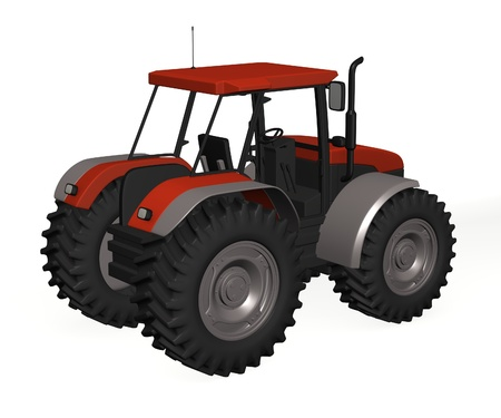 3d render of tractor machine  photo