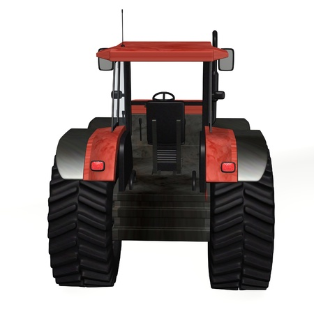 3d render of tractor machine Stock Photo - 12960296