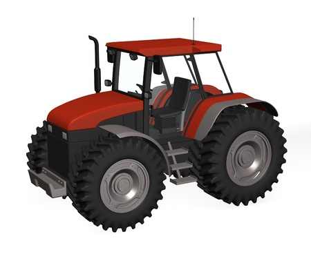 3d render of tractor machine  Stock Photo - 12958831