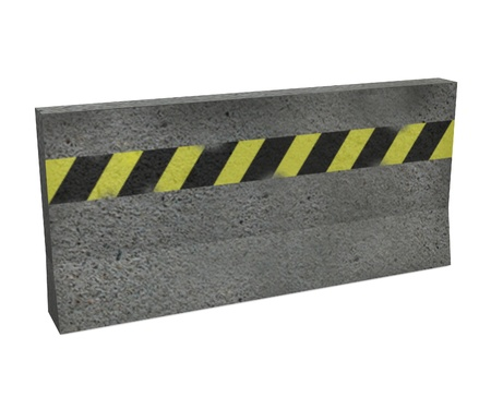 3d render of traffic barrier Stock Photo - 12984753