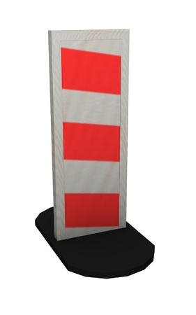 traffic barricade: 3d render of traffic barrier