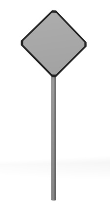 bill board: 3d render of traffic sign