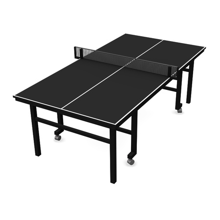 pong: 3d render of table tennis - table