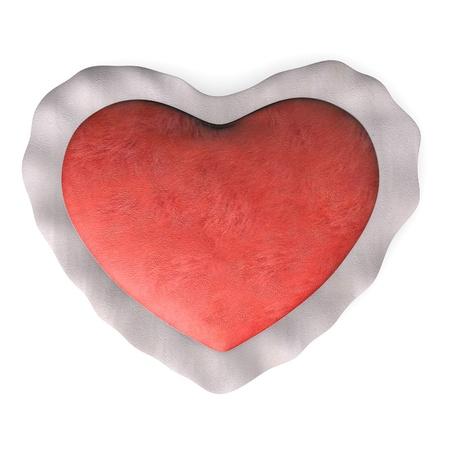 3d render of valentine heart  photo