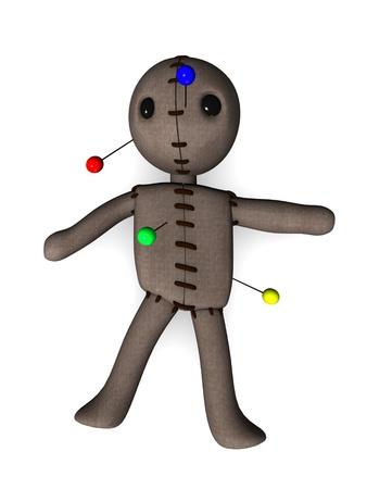 Voodoo doll: 3d render of voodoo dummy