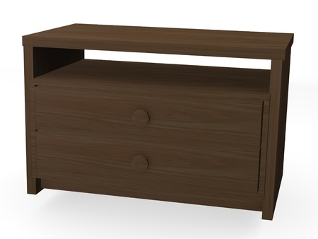 3d render of wooden cupboard photo