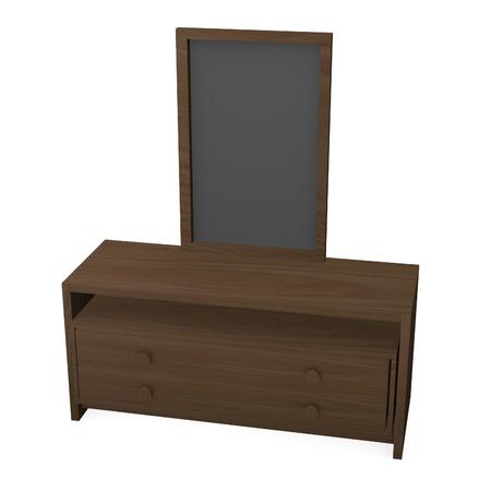 3d render of wooden cupboard Stock Photo - 12958134