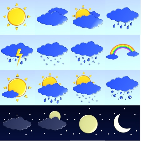 3d render of weather icons  photo