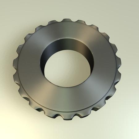 spur: 3d render of gear wheel