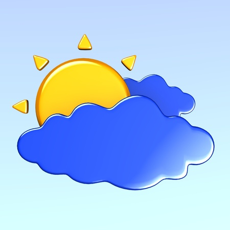 3d render of weather icon  photo