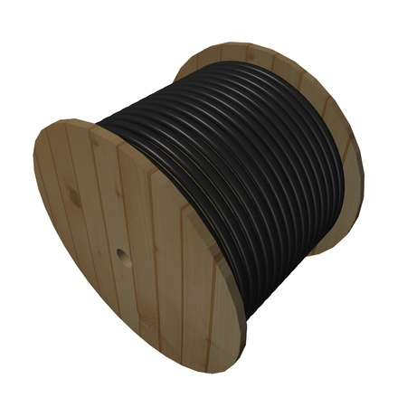 inductor: 3d render of wire spool