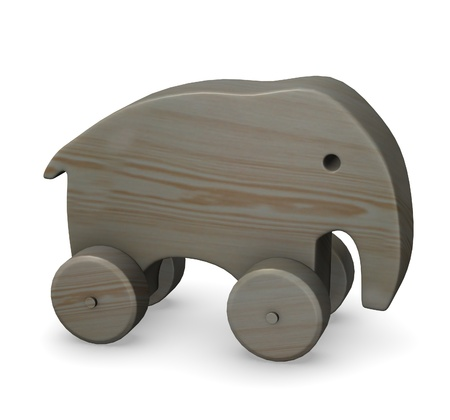 3d render of wooden elephant Stock Photo - 12958099