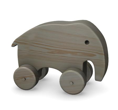 3d render of wooden elephant Stock Photo - 12958099