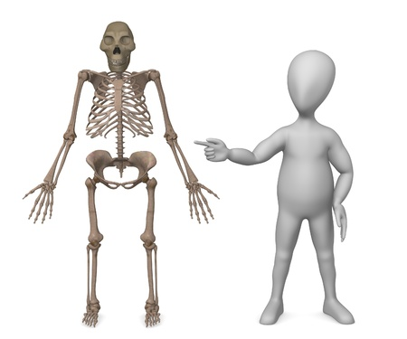 australopithecus: 3d render of character showing on australopithecus