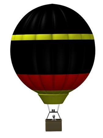 3d render of cartoon character on balloon  Stock Photo - 12957531