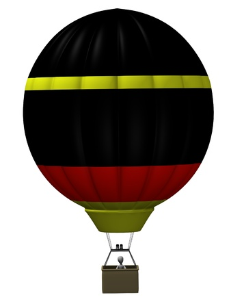 3d render of cartoon character on balloon Stock Photo - 12957531