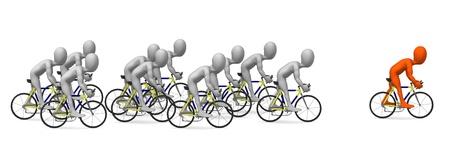 Rendu 3d de personnage de dessin animé à cheval sur le vélo Banque d'images - 12985901