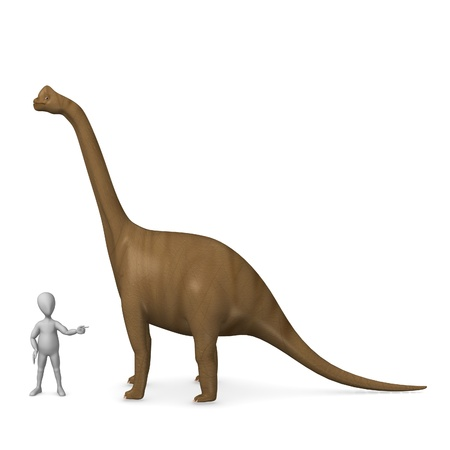 3d render of cartoon character with dino   Stock Photo
