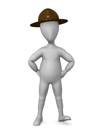 sherif: 3d render of cartoon character with campaign hat