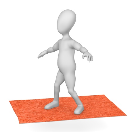 3d render of cartoon character with carpet photo