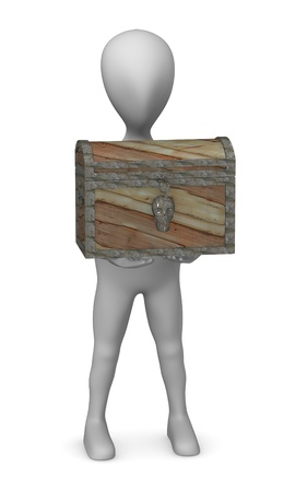 3d render of cartoon character with chest photo