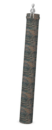 figourine: 3d render of cartoon character with chimney