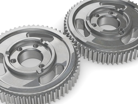 3d render of gear wheel (industrial part) photo