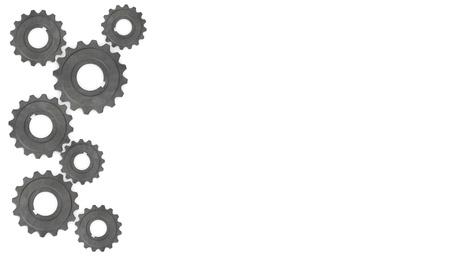 3d render of gear wheel (industrial part)