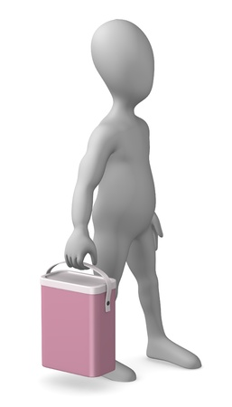 purgative: 3d render of cartoon character with detergent box
