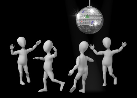 mirrorball: 3d render of cartoon character with discoball