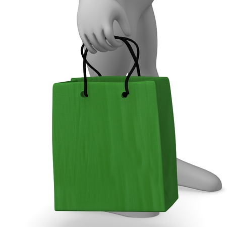 3d render of cartoon character with gifts photo