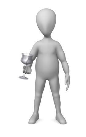 3d render of cartoon character with glass photo