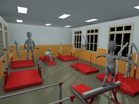 3d render of cartoon character training photo