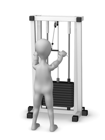 cardio workout: 3d render of cartoon character training