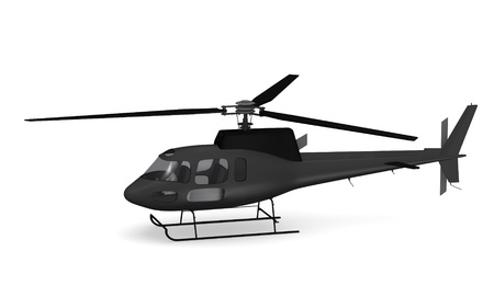 3d render of cartoon character with helicopter photo