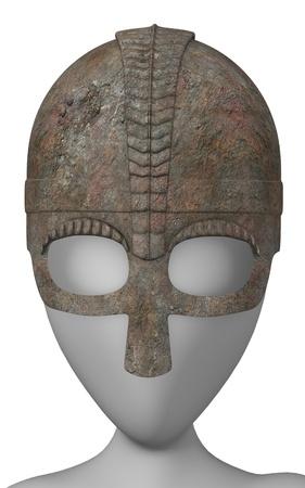 figourine: 3d render of cartoon character with helmet