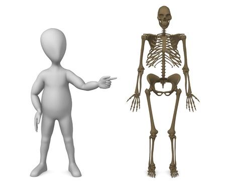 erectus: 3d rinden de personaje de dibujos animados con el Homo erectus