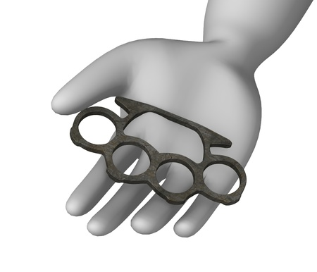 knuckle: 3d render of cartoon character with knuckle