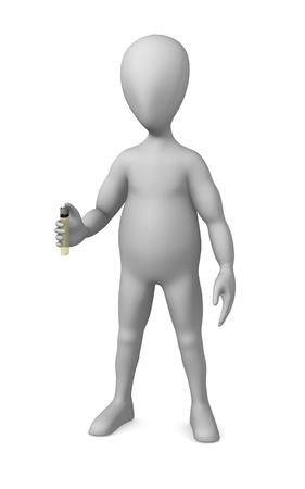3d render of cartoon character with lighter Stock Photo - 12919963