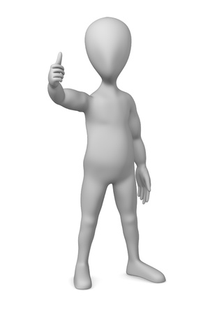 3d character making pose - thumb up Stock Photo - 12967196