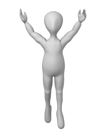 3d character making pose - winner Stock Photo - 12970392