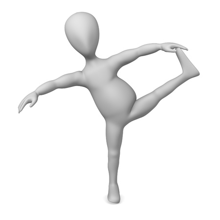 3d character making pose - yoga Stock Photo - 12967201