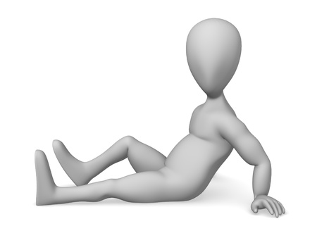 3d character making pose - sitting Stock Photo - 12969565