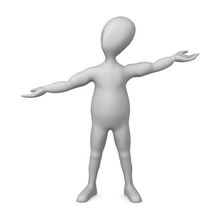 3d character making pose - what a wonderful Stock Photo - 12967194