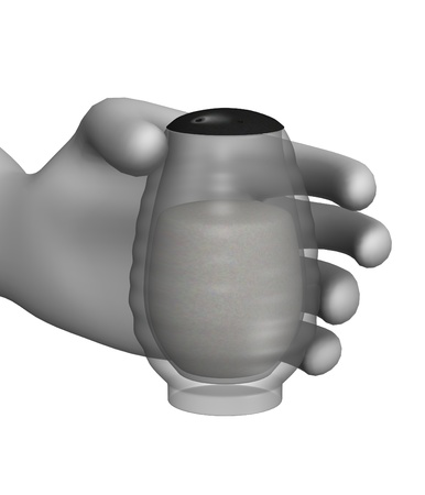 3d render of cartoon character with saltpepper flask photo