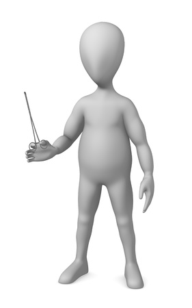 3d render of cartoon character with surgical scissors Stock Photo - 12970514